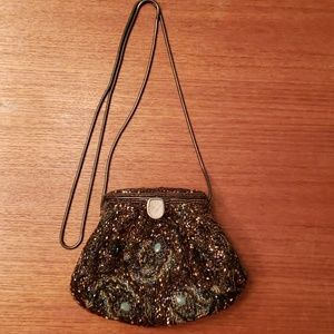 Vintage beaded evening bag EUC